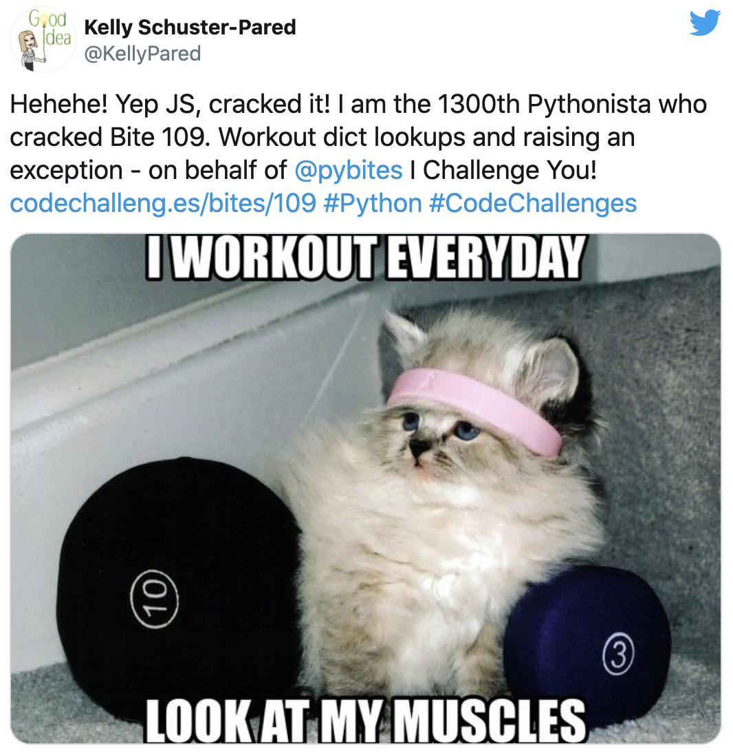 Kelly's daily Bite workout