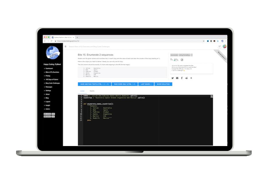 PyBites Platform | Hone Your Python Skills